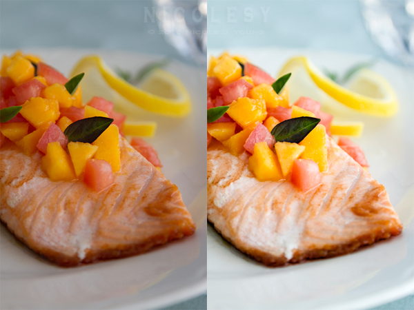 Salmon Before/AfterCanon 7D, Canon 24-105 ƒ/4L IS lens, 1/50th sec at ƒ/4, ISO 100