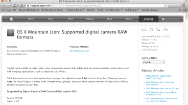Canon 6D and Nikon 1 V2 Now Have Mac Raw Support