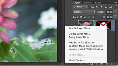 Disabling Photoshop Layer Masks
