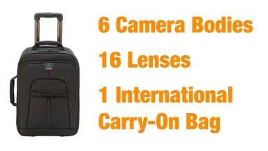 How I Fit 6 Cameras and 16 Lenses into a Carry-On Bag