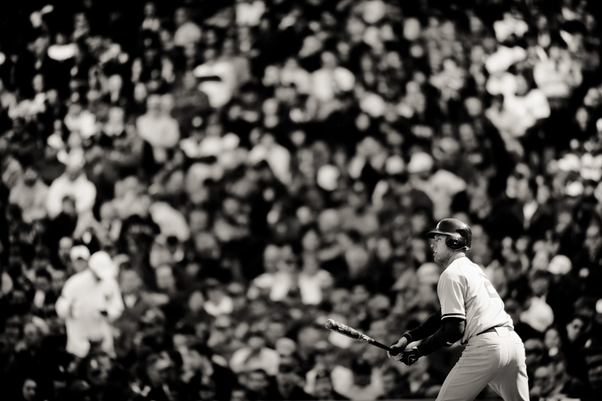 Derek Jeter at bat in Fenway Park.