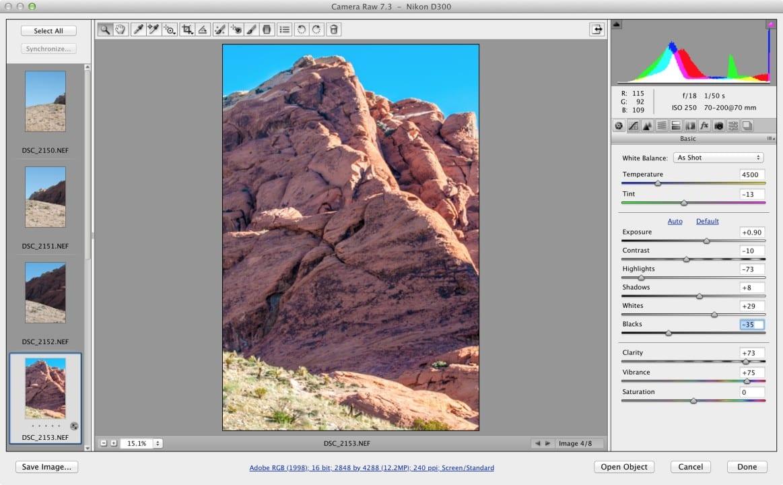Synchronize Camera Raw Settings in Photoshop