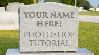 Carve your name on a tombstone in Photoshop