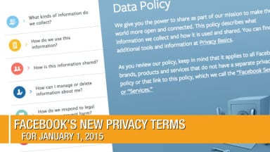 Facebook's Privacy Terms for 2015