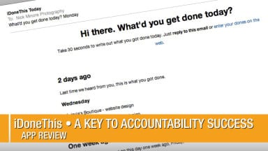 iDoneThis • A Key to Accountability Success