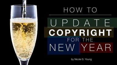 Updating Your Copyright for the New Year