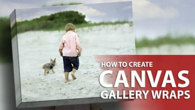 How to Create a Canvas Gallery Wrap