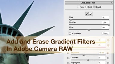 Add and Erase Gradient Filters In Adobe Camera RAW
