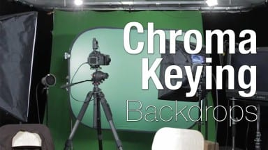 Using a FlexiFill  ChromaKey Backdrop