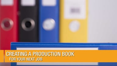 Creating a Production Book