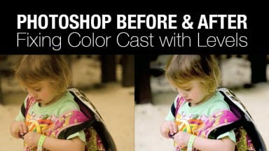 Using a Levels Adjustment to Remove a Color Cast in Photoshop