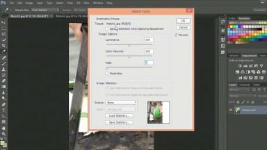 Using Match Color Command with Two Photos in Photoshop