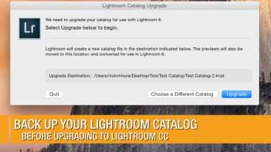 Back Up your Lightroom Catalog before Upgrading to Lightroom CC