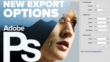 Export Options in Photoshop CC 2015