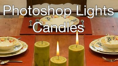 Candle Lighting with Photoshop