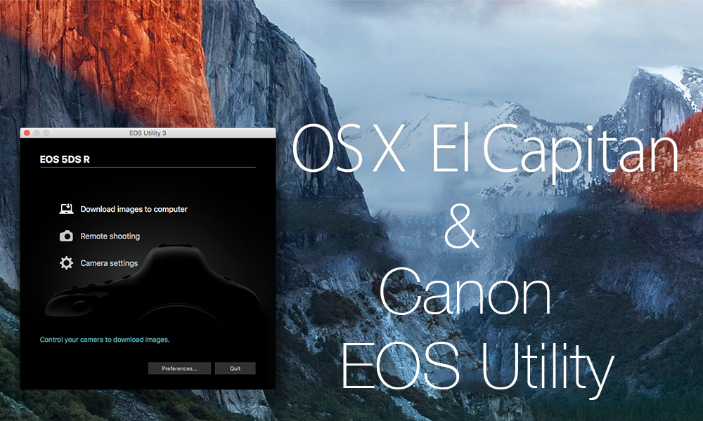eos utility download for mac