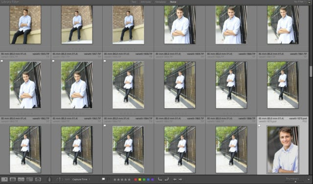 Making Selects by using Flags in Lightroom