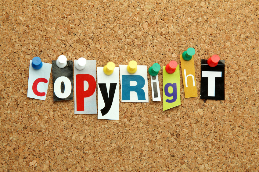 Copyright pinned on noticeboard