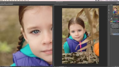 Setting Up Two Windows for One Image in Photoshop