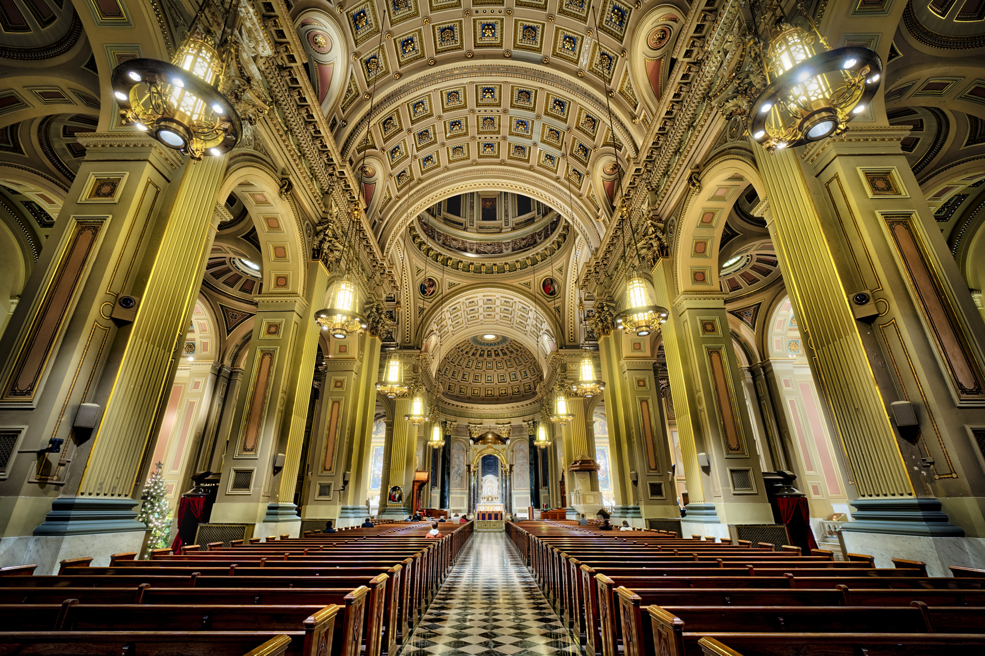 Inside the Cathedral Basilica of Saints Peter and Paul on the Ben Franklin Parkway in Philadelphia.