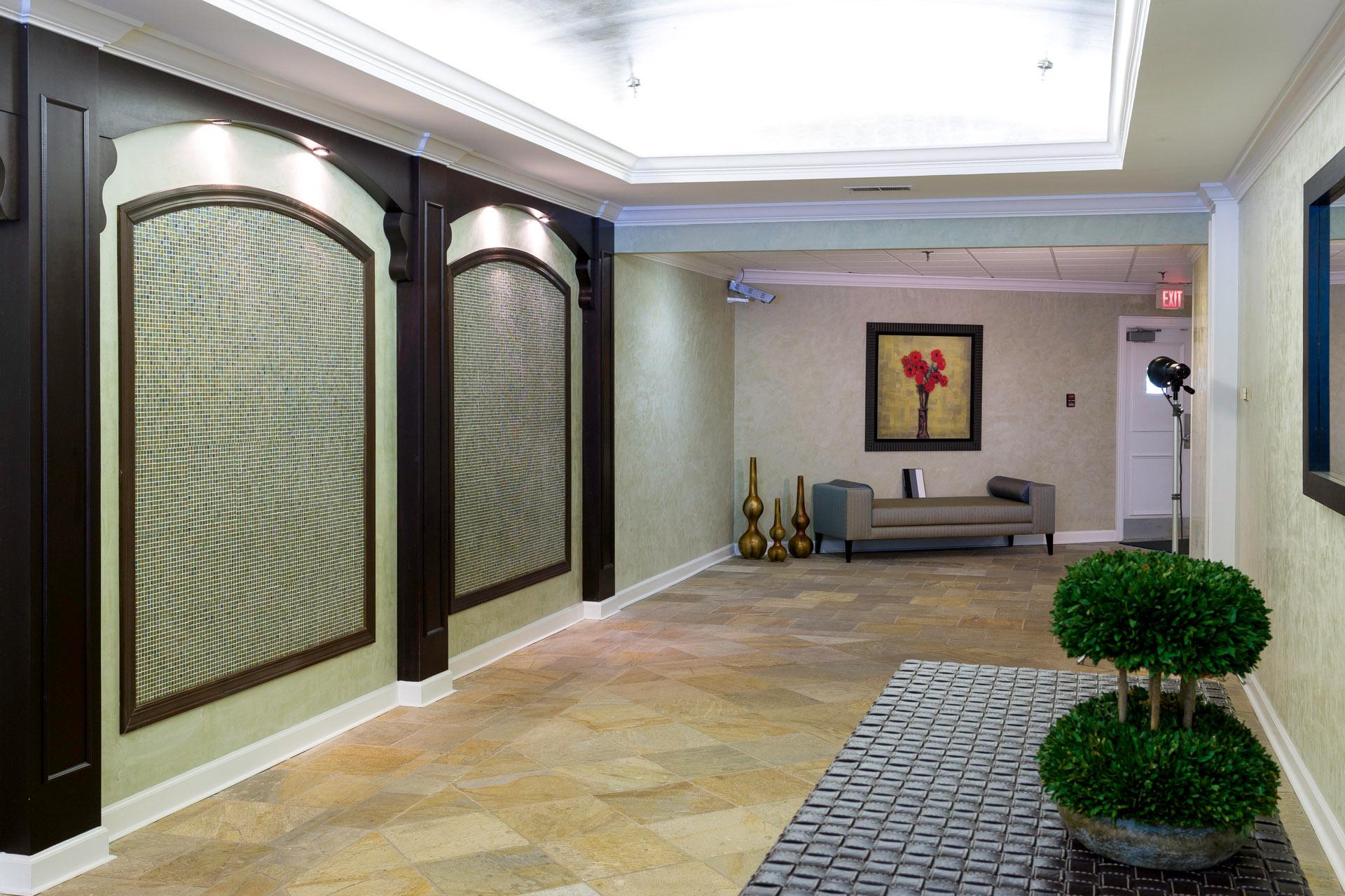 Interiors of Lenox Pointe Condominiums for Brainstorm Design Works Estimate #91101-22 Lobby-Hallway