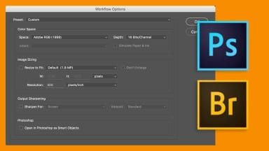 Workflow Options In Adobe Camera Raw