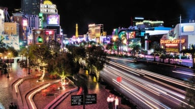 Blurred Las Vegas Cityscape – Slight HDR Effect with Photomatix Pro