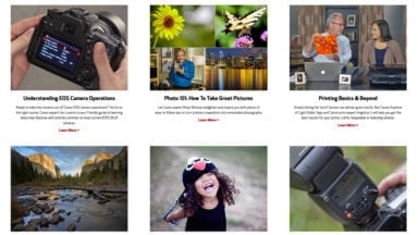 Canon Adds 7 New Online Classes