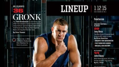 Photographing New England Patriots Gronk