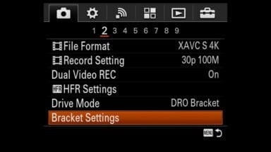 Setting a Self Timer for Bracketing HDR Images on Sony Cameras