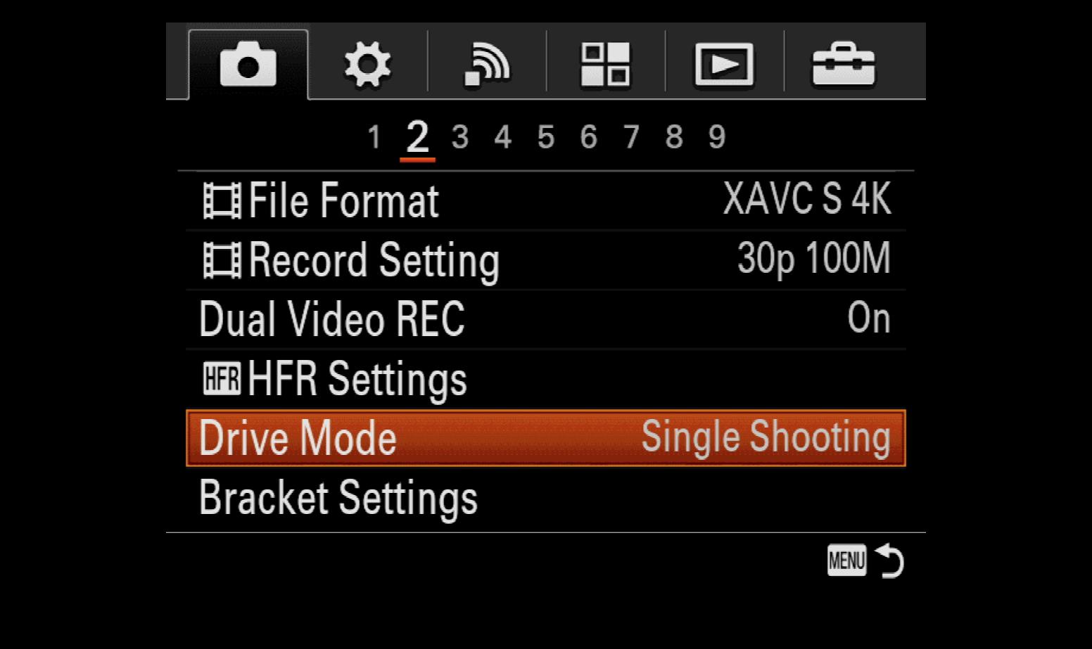 Setting up Bracketing on Sony Cameras | Photofocus