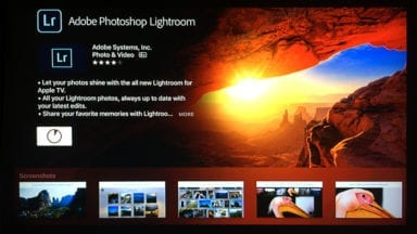 Sharing Photos on the Apple TV with Lightroom