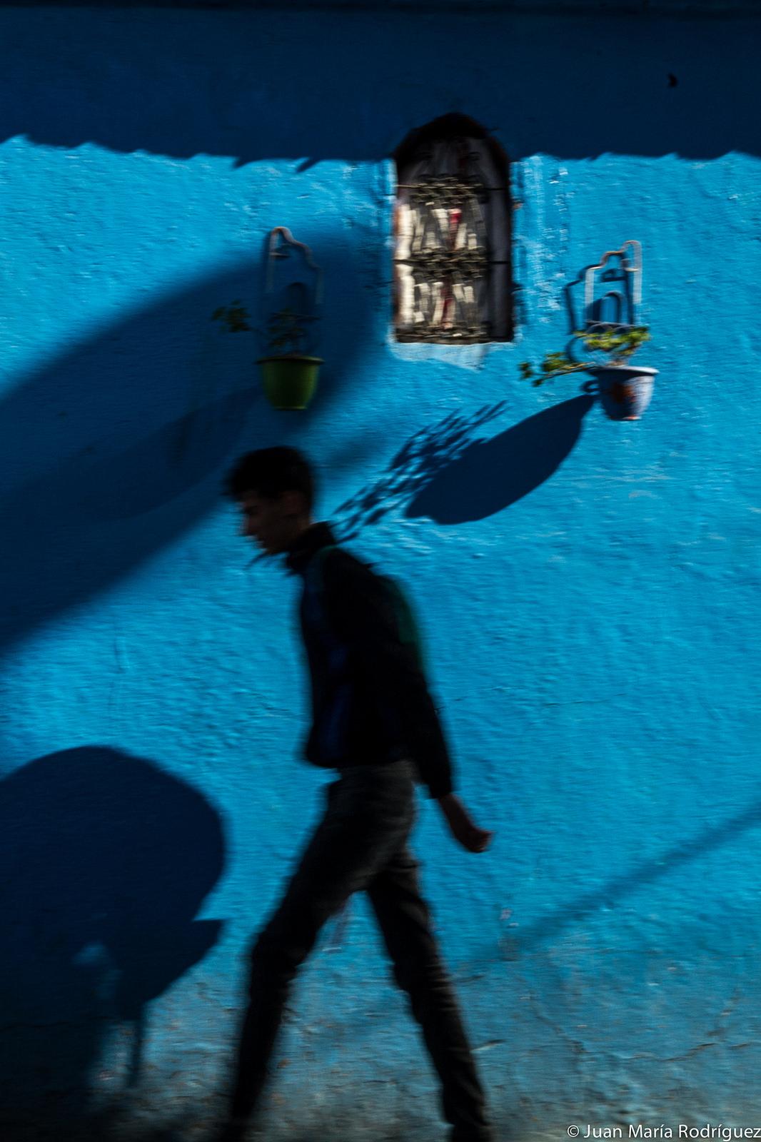 Man in blu by Juan Maria Rodriguez