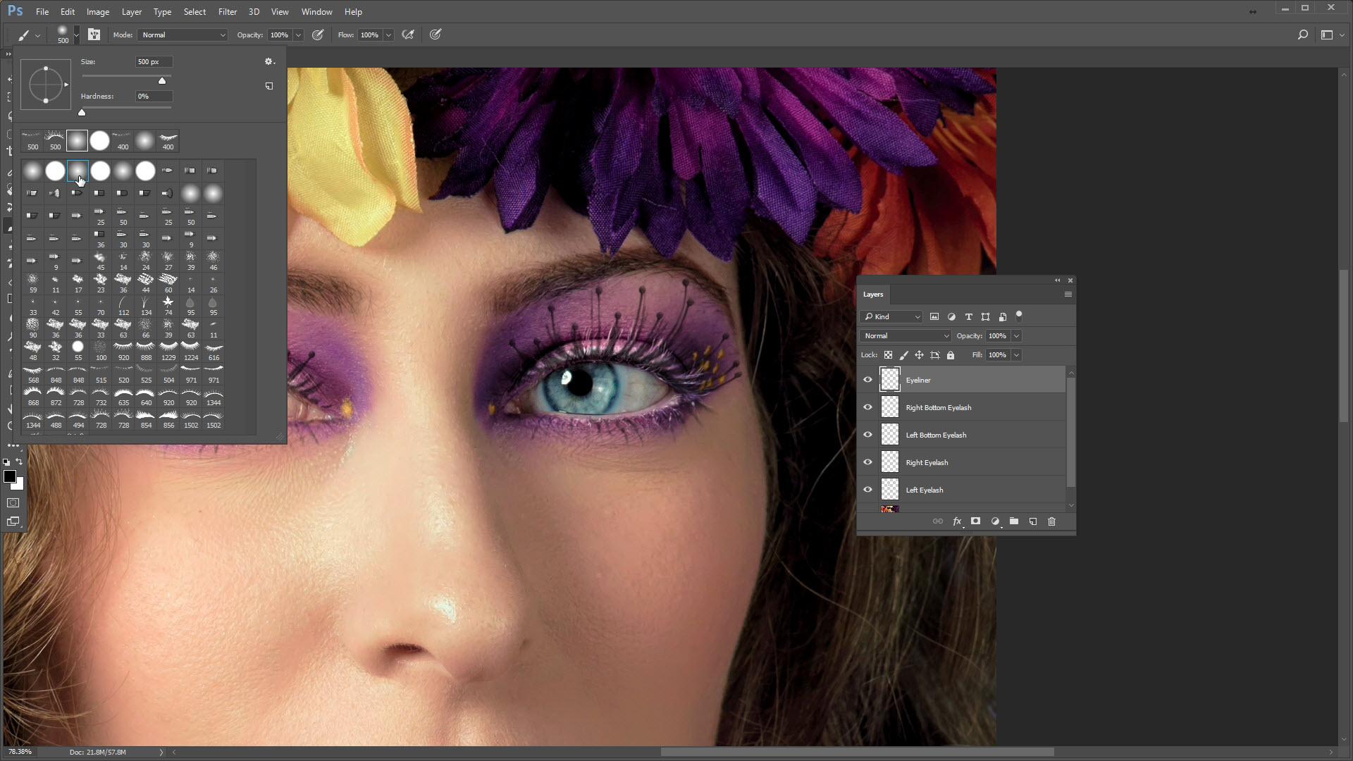 Adding Realistic Eyelashes In Photoshop Photofocus
