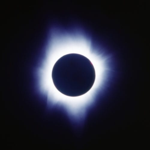 Total eclipse of the sun on July 11, 1991 © Steven Inglima.