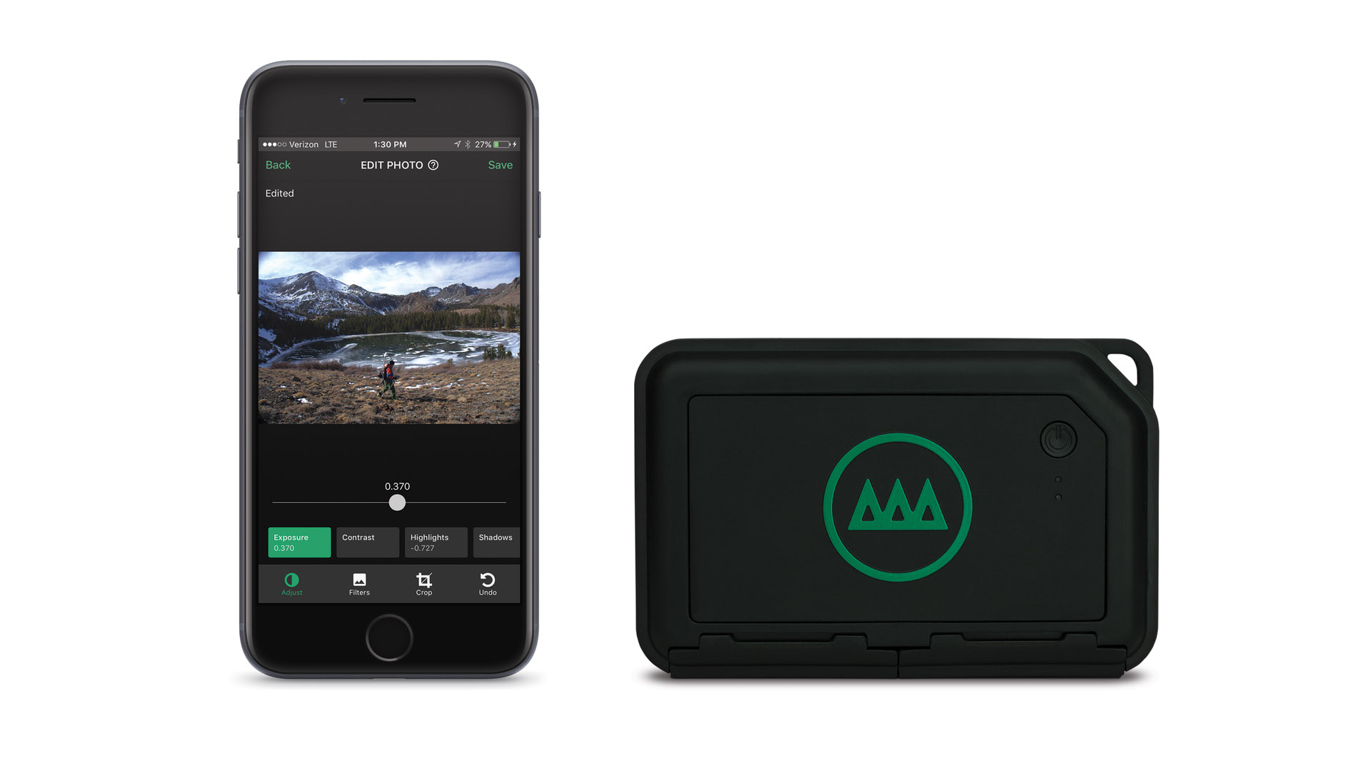 Smartphone with Gnarbox