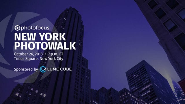 October 26: Join Photofocus and Lume Cube for a New York City photowalk