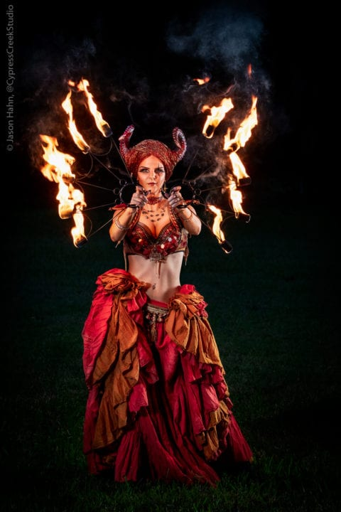 Fire Spinning Dragon Woman, Andrea