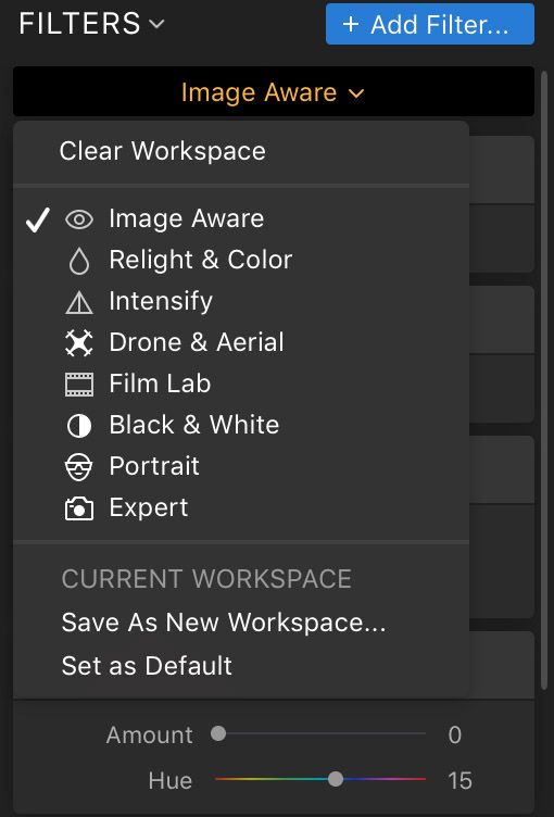 Luminar Flex with task based workspaces