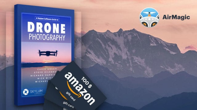 Free drone eBook and chance to win a $100 Amazon gift card from Skylum