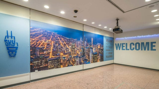 Licensing images for murals in commercial and office spaces