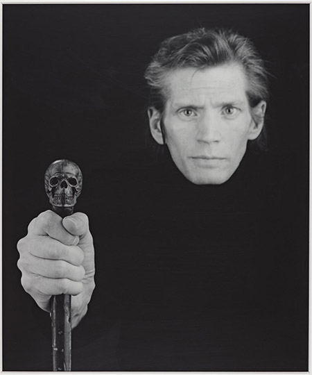 Self Portrait 1988 Robert Mapplethorpe 1946-1989 ARTIST ROOMS Acquired jointly with the National Galleries of Scotland through The d'Offay Donation with assistance from the National Heritage Memorial Fund and the Art Fund 2008 http://www.tate.org.uk/art/work/AR00496