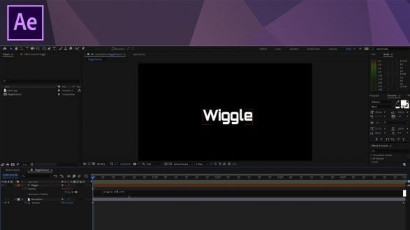 After Effects Tutorial - The Wiggle Expression