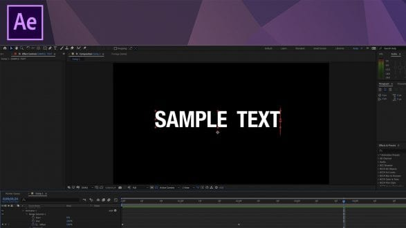 AE Tutorial - Animating Text Character Offset