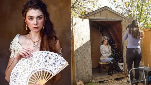 I took Pictures in My Backyard Shed! Natural Light, Behind The Scenes - youtube