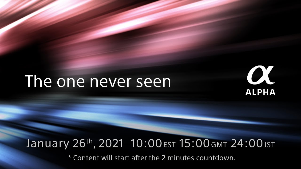 New product announcement on January 26th 2021 | Sony | α - youtube