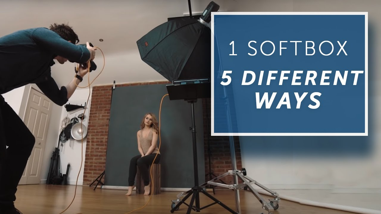 5 WAYS TO USE A SINGLE LIGHT -  [Lighting Tutorial] - youtube