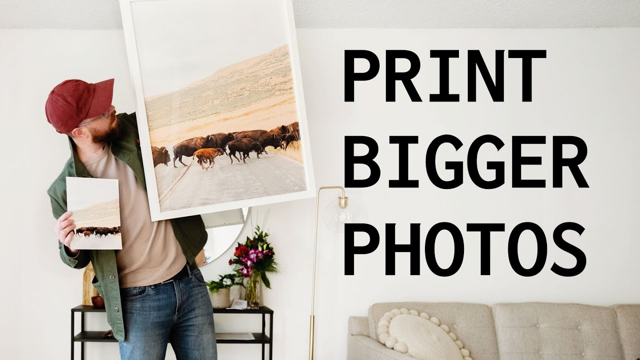 Make Your Images Bigger for Print - youtube