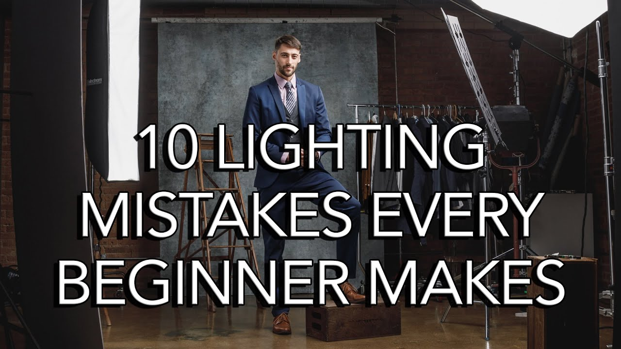 The 10 portrait lighting mistakes that every new photographer makes - youtube