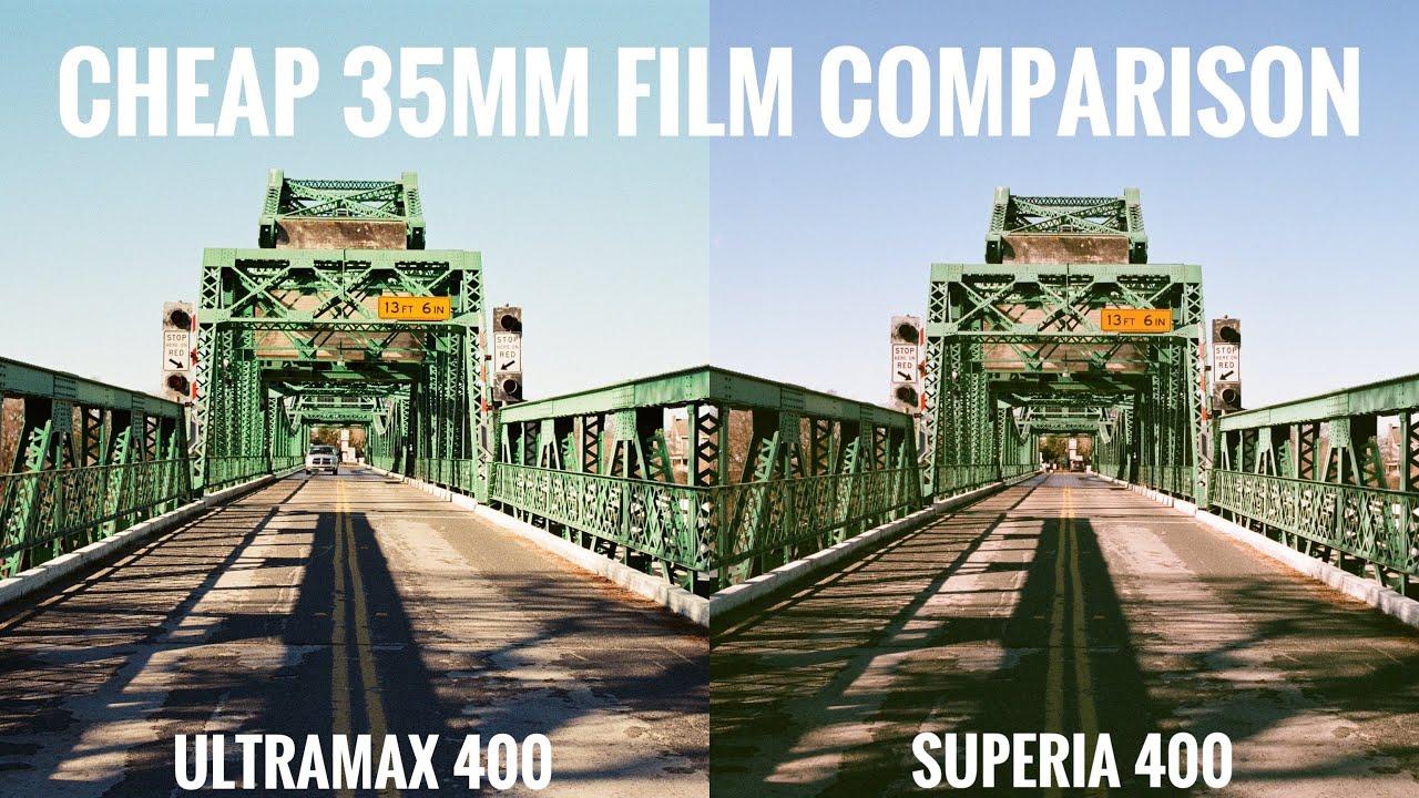 Cheap 35mm Film Comparison - Kodak Ultramax 400 vs Fuji Superia 400 - youtube